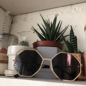 Accessories - Gold Octagon Sunnies